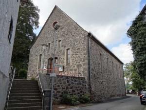 Evangelische Kirche Eingang unten